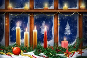 Xmas Lighting Candles Wide