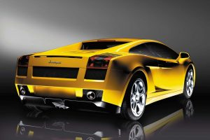 Yellow Lamborghini Gallardo Backside