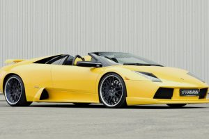 Yellow Lamborghini Murci Wide