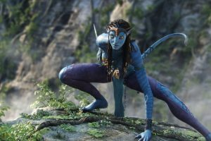 Zoe Saldana In Avatar Movie Wide