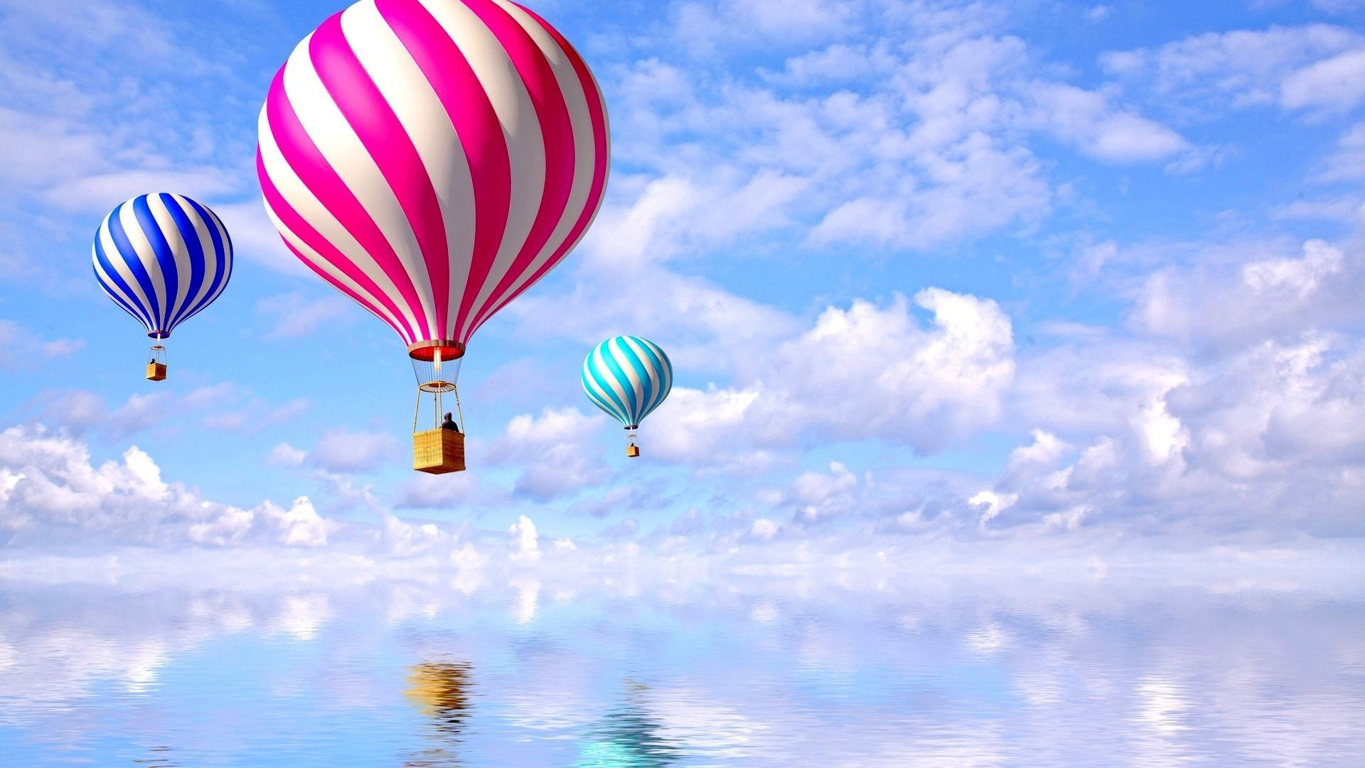 colored balloons HD